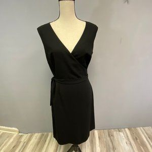 Ann Taylor Black Sleevless Tie Dress Size 4